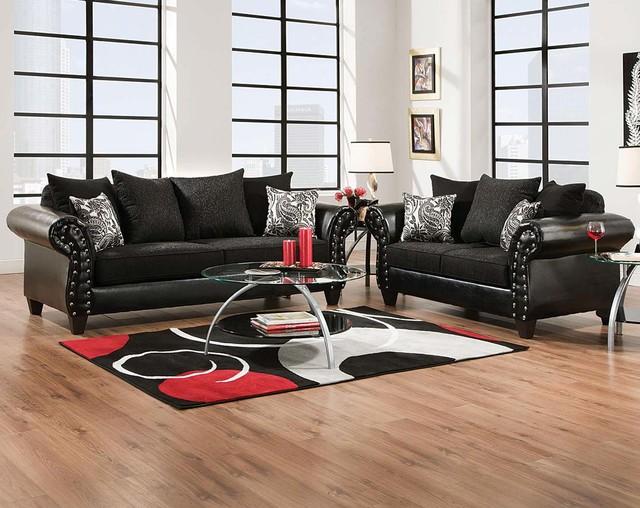 Superior American Freight Furniture And Mattress Furniture U0026 Accessories. Highclere  Onyx Sofa U0026 Loveseat Eclectic Living Room Part 24