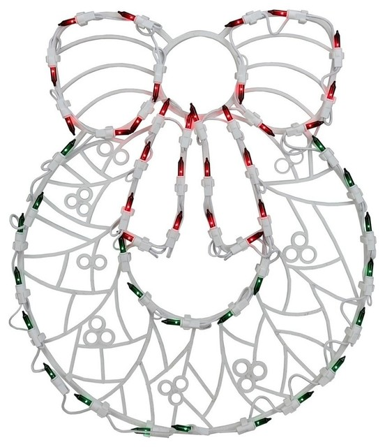 """18"""" Led Lighted Wreath Christmas Window Silhouette Decoration, Set Of 4."""