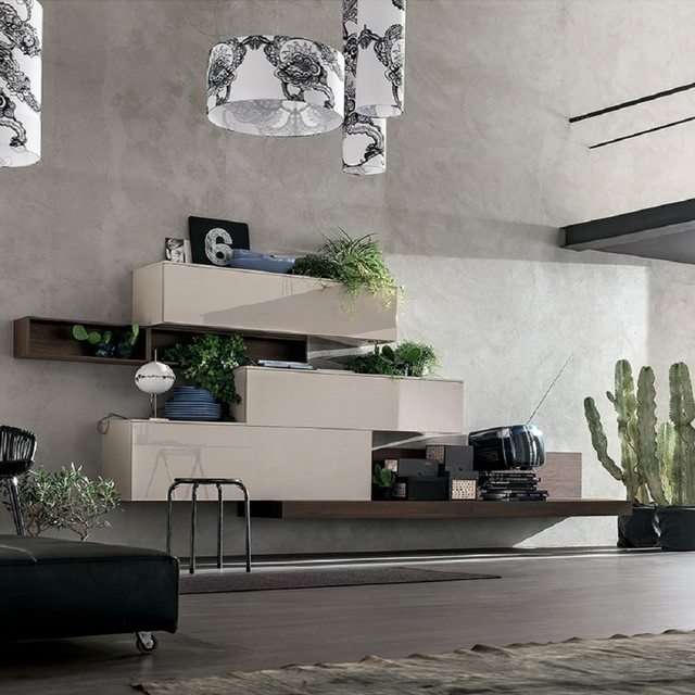 Elegant 39 liv 39 wall unit by santa lucia contemporary for Elegant wall units