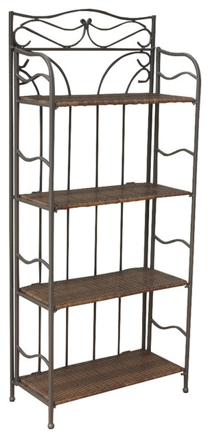 "Valencia 4-Tier 24"" Wide Plant Stand,antique Brown."