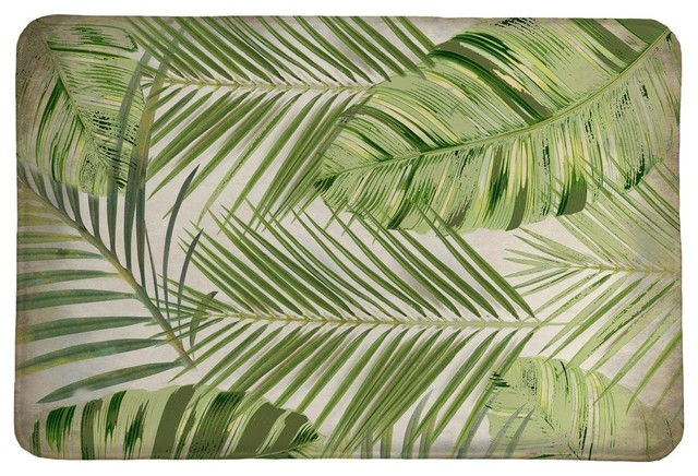 Tropic Palms Memory Foam Rug, 21x34.