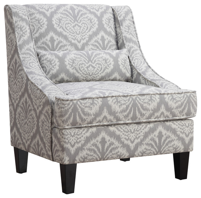Attirant Accent Seating Jacquard Patterned Accent Chair