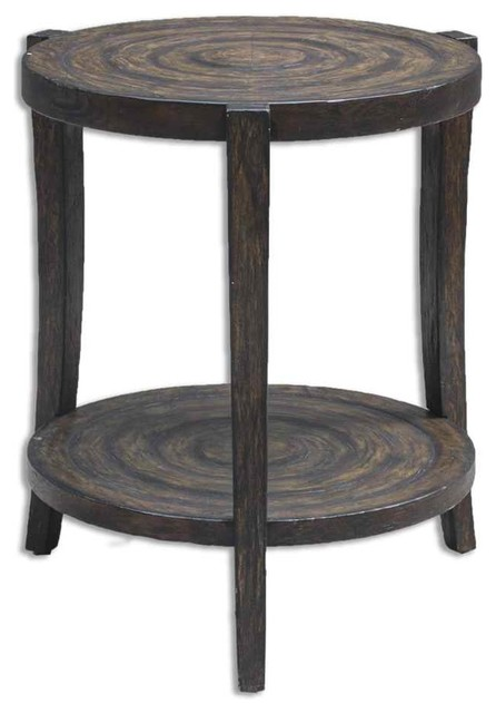 Signature Design By Ashley Kraleene Dark Brown Chair Side End Table With Heater