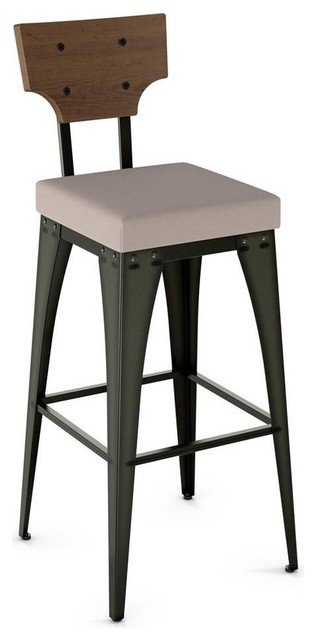 19 5 Rally Barstool In Semi Transpa Gun Metal Finish