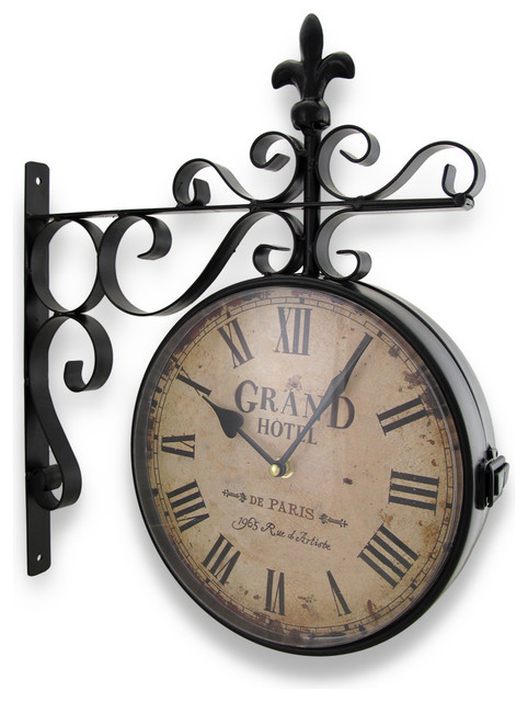 Double Sided Wall Clocks Houzz
