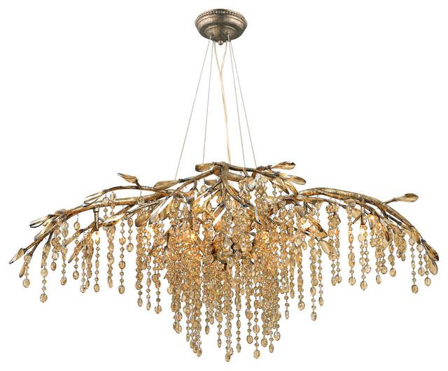 Golden Lighting Golden LightingAutumn Twilight 12 Light Chandelier ...:Golden LightingAutumn Twilight 12 Light Chandelier in Mystic Gold  contemporary-chandeliers,Lighting