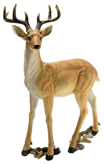 Superieur Woodland Buck Deer Statue