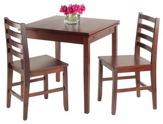 3-Pc Extension Table Set in Walnut Finish