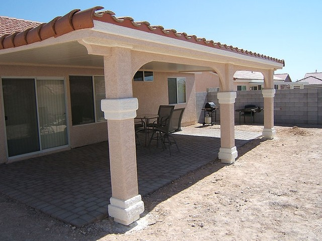 - Ultra Patios Alumawood Patio Cover With Stucco Post