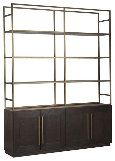 Large Dark Wood Bookcase.