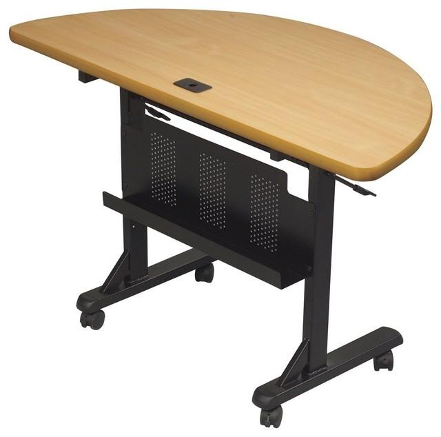 Balt Flipper Half Round Office Table Contemporary Desks And - Half round office table