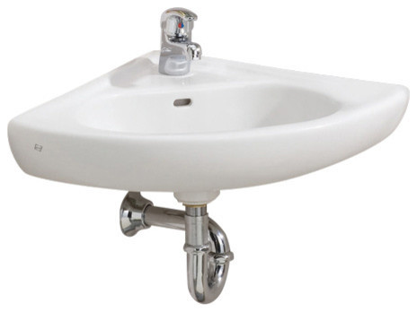 Wall-Mount Corner Sink.