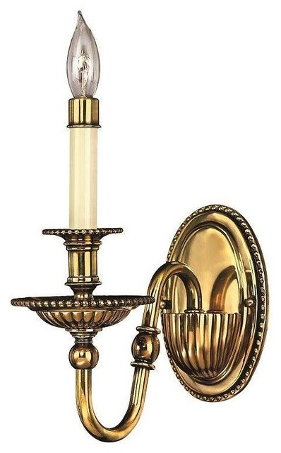 low priced 068c9 2469a Hinkley Lighting Cambridge 1 Light Sconce, Burnished Brass - 4410BB