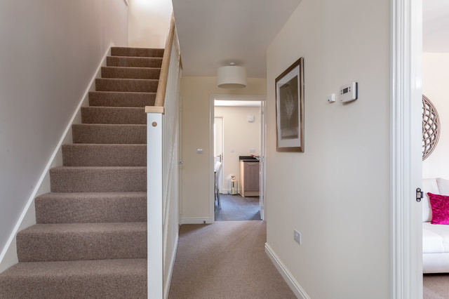 Photography Of A New Show Home Contemporary Hallway
