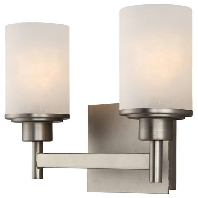 Canarm Canarm Lyndi 2 Light Vanity In Brushed Nickel View In Your Room Houzz