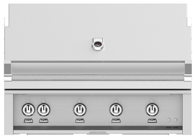 Built-In Grill With Sear Burner, Steeletto, Natural Gas, 42.