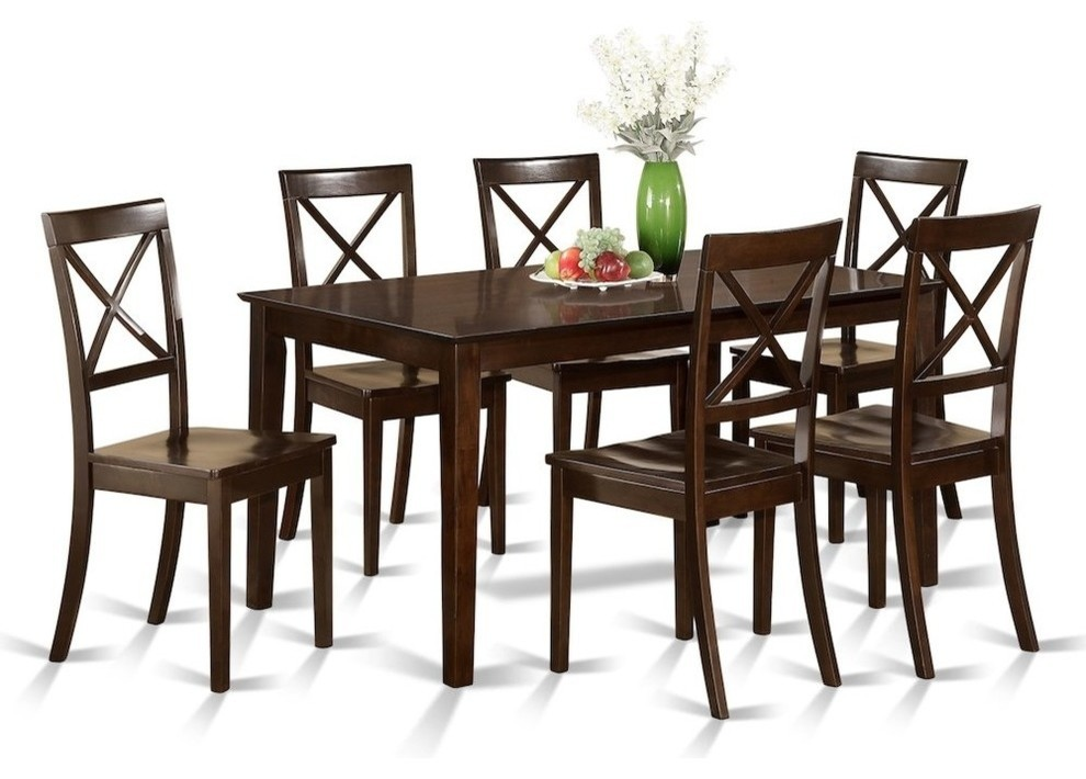 7 Piece Formal Dining Room Set Table And 6 Formal Dining Chairs Contemporary Dining Sets By Bisonoffice