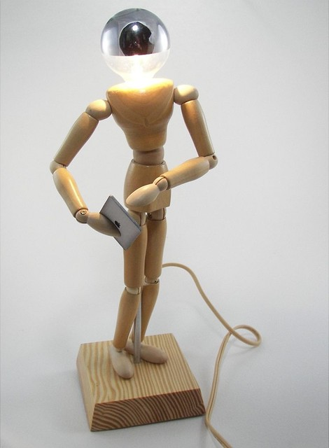 Wood Manikin Lamp
