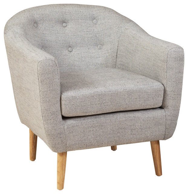 Chicago Club Chair  Pepper Gray midcentury armchairs and accent chairs. Shop Houzz   GDFStudio Denise Austin Home Chicago Pepper Colored