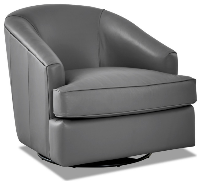 Avenue 405 Furniture Charley Swivel Accent Chair: Avenue 405 Lamar Leather Swivel Gliding Accent Chair