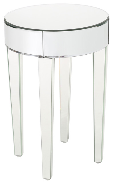 Alvo Contemporary Mirrored Round Table.
