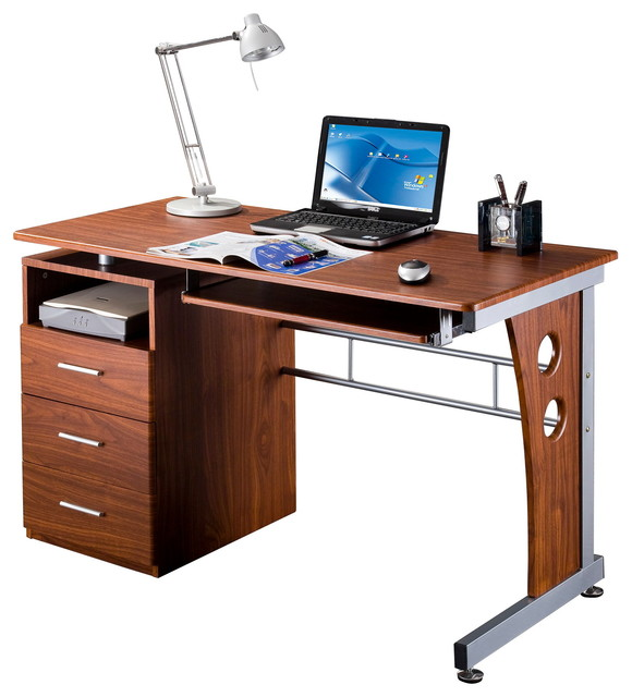 Peregrine Computer Desk, Mahogany.