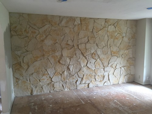 What to do with an Interior rock wall from the 70s80s