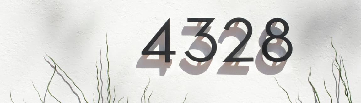 Modern House Numbers   Tucson, AZ, US 85732