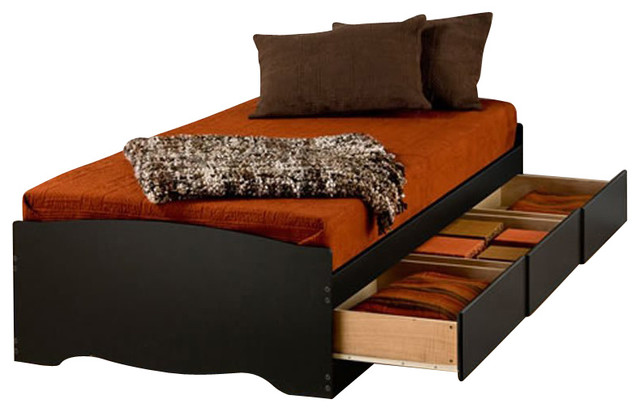 Prepac Prepac Sonoma Black Twin Xl Platform Storage Bed With Drawers View In Your Room Houzz