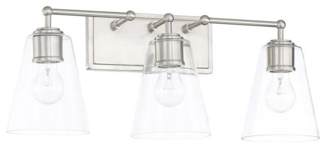 Capital Lighting 4 Light Vanity Fixture Brushed Nickel: Bathroom Vanity Lighting