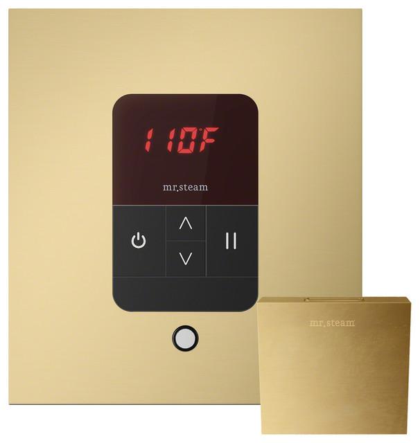 iTempo Square Steam Shower Control, Satin Brass