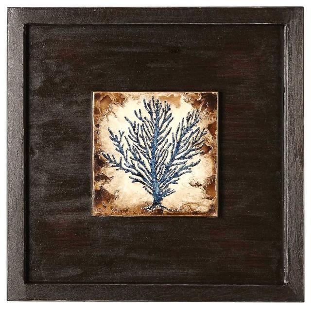 Indigo Coral Shadowbox #I Artwork