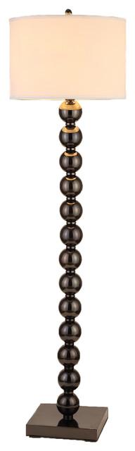 "Artiva Usa Cosimo 61"" Jet Black Steel Ball Led Floor Lamp With Dimmer."