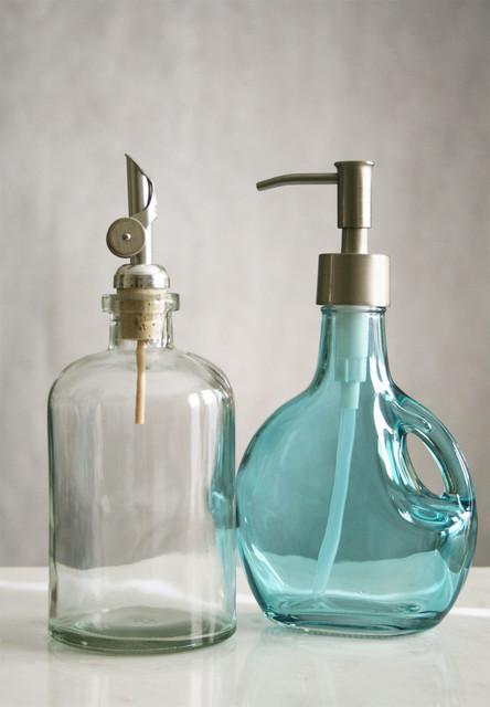 rail19 recycled glass soap dispensers - Bathroom Soap Dispenser