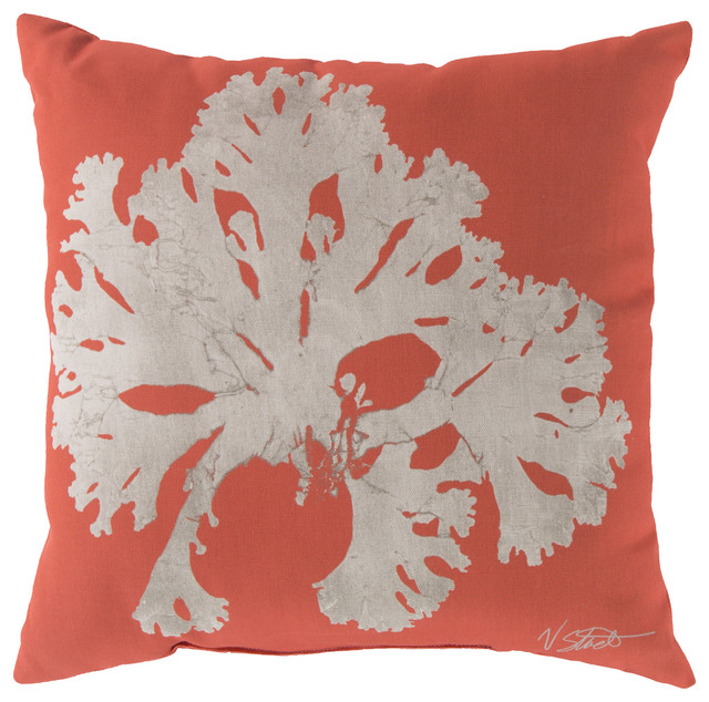 Beach Style Outdoor Cushions : Coral Square Decorative Pillow RG-052 - 20