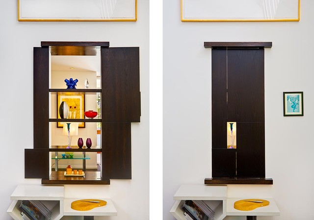 Wall cabinet- 2 sided by MGS architecture - Asian - Living Room ...