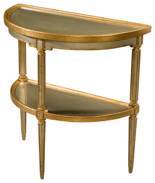 Theodore Alexander Eglomise Venetian Waters Console Console Tables