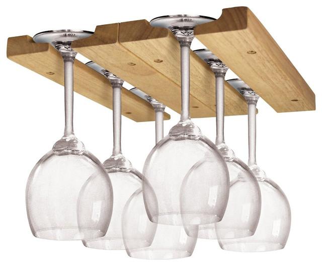 Shop Houzz   Fox Run Fox Run Hardwood Under-Cabinet Wine Glass Rack - Dinnerware And Stemware ...