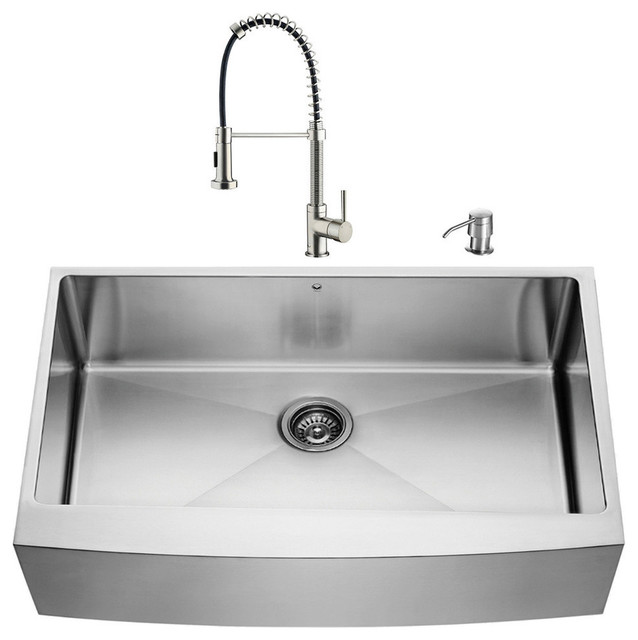 Farmhouse Sink In Modern Kitchen : All Products / Kitchen / Kitchen Fixtures / Kitchen Sinks