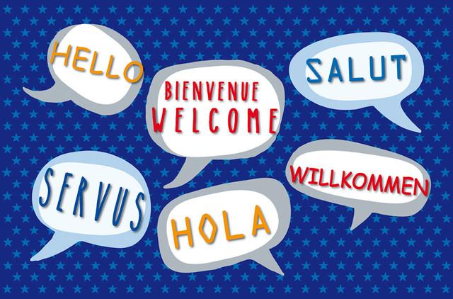 """""""Welcome"""" Multilingual Gallery Door Mat, Small"""