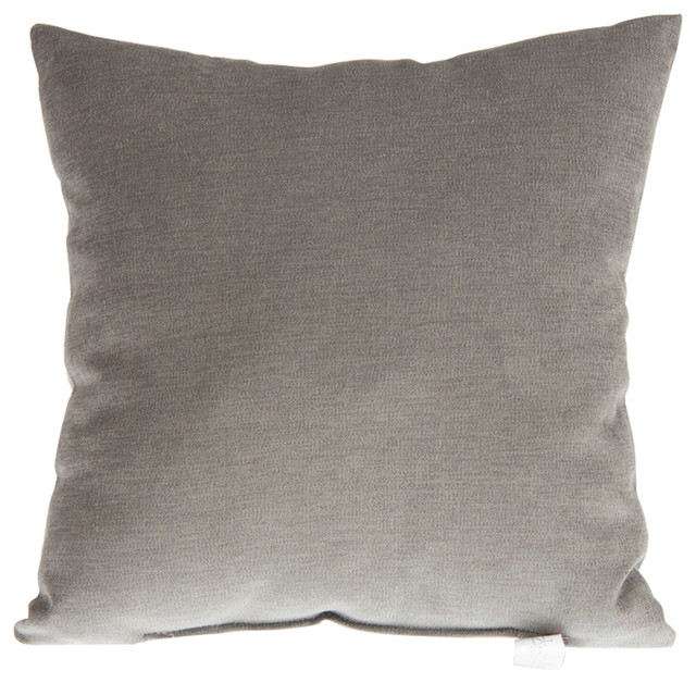 Calliope Gray Velvet Pillow - Contemporary - Decorative Pillows - by Glenna Jean