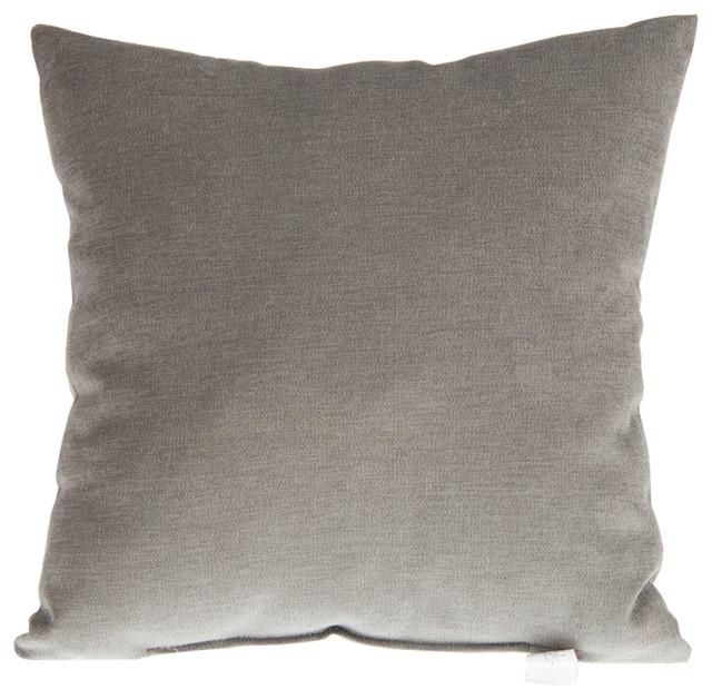 Calliope Gray Velvet Pillow - Contemporary - Decorative Pillows - by Glenna Jean