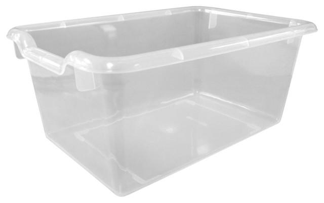 Scoop Front Storage Bins Clear Set Of 10