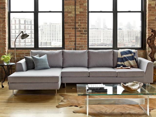 Interior Define Asher Sofa Contemporary Living Room