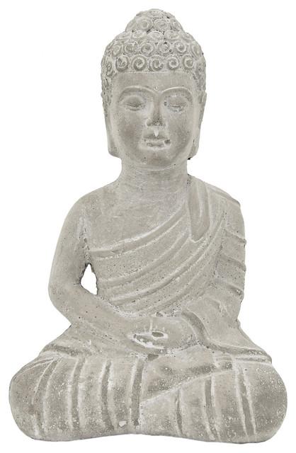 Oriental Furniture 9 Japanese Sitting Buddha Statue
