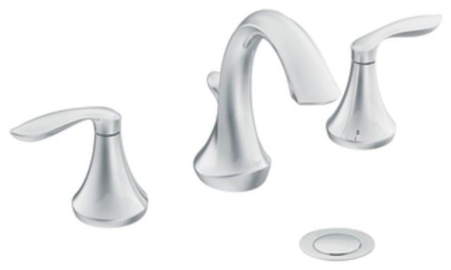 Moen T6420 Eva Two Handle Widespread Bathroom Sink Faucet Trim In Chrome Tr