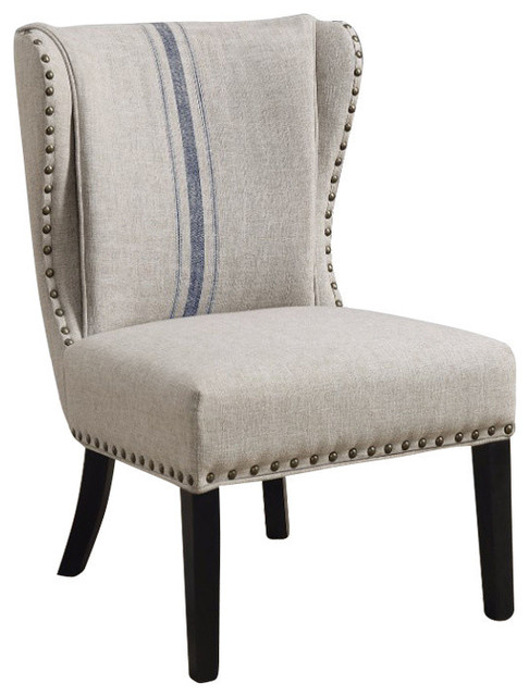 Accent Chair Grayblue Farmhouse Armchairs And Accent Chairs