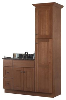 Jsi Cabinetry Sturbridge 36 Bathroom Vanity Base And 18 W Linen Closet Contemporary