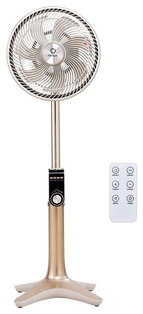 Modern 24-Speed 3 Mode Height Adjustable Remote Control Pedestal Fan.