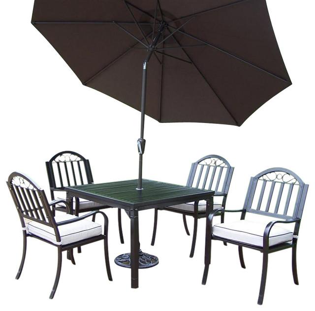 7 pc square patio dining set contemporary outdoor